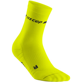 cep Neon Mid-Cut Socks Women, neon yellow